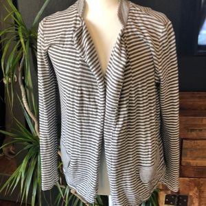 Striped Dolan knit blazer